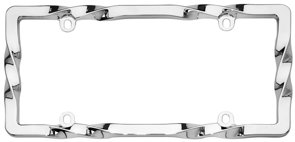 Image of Cruiser Twisted Chrome License Plate Frame