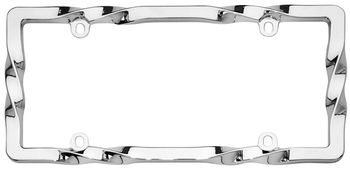 Cruiser Twisted Chrome License Plate Frame