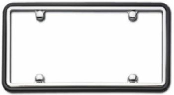 Image of Cruiser Two Tone Chrome/Black License Plate Frame