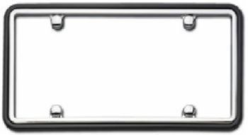 Cruiser Two Tone Chrome/Black License Plate Frame