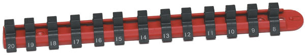 "CTA 13 Piece 1/4"" Drive Nylon Metric Socket Rail"