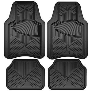 Armor All All Season Heavy Duty 4 Piece Rubber Floor Mat Set