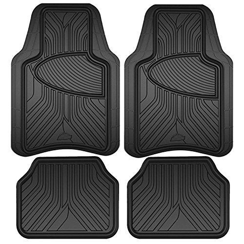 Image of Armor All All Season Heavy Duty 4 Piece Rubber Floor Mat Set - Black