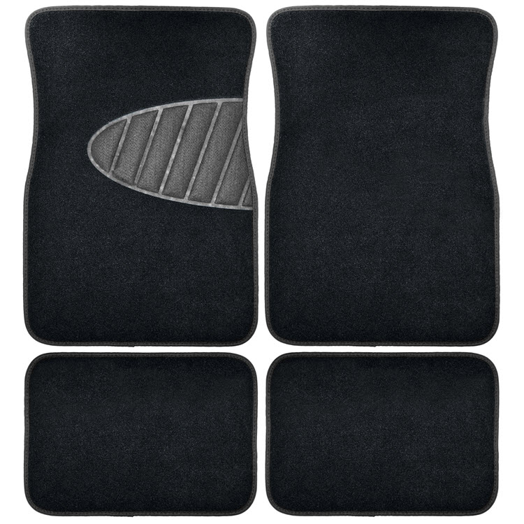 Image of Armor All 4 Piece Carpet Floor Mat Set with Heal Pad - Black