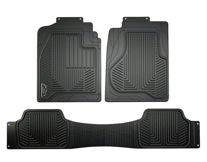 Truck Floor Mats >> Armor All Black Heavy Duty 3 Piece Rubber Truck Floor Mat Set Cus78990