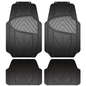 Armor All Black & Grey All Season 4 Piece Rubber Floor Mat Set