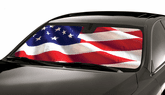 Custom Fit American Flag Sun Shade For Windshields by Intro-Tech