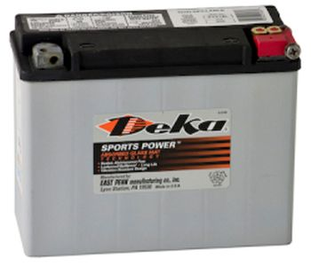 Deka ETX18L AGM Power Sport Battery (340 CCA)