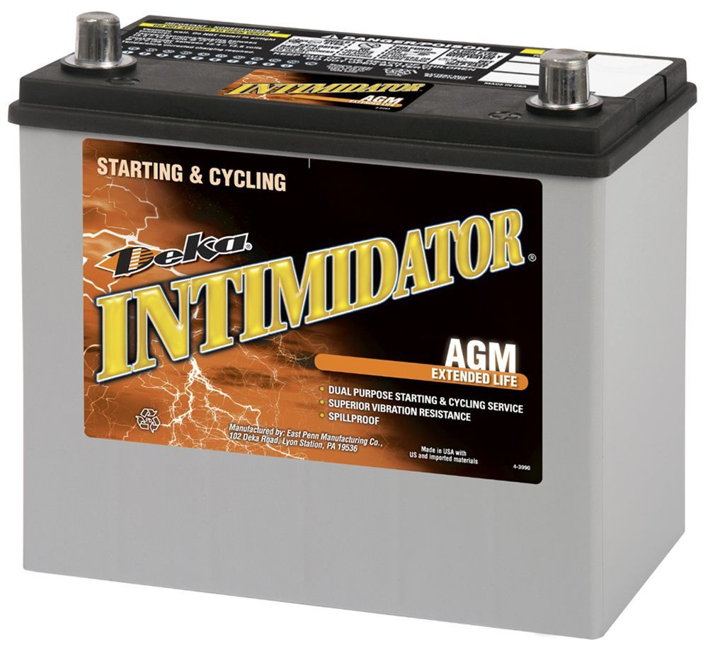 Deka 9A48 AGM Intimidator Battery Replacement Parts Automotive ...