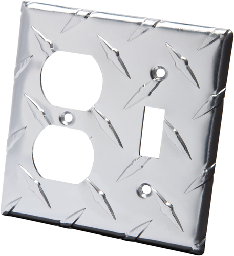 Image of Diamond Plate Light Switch/Outlet Covers