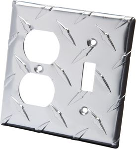 Diamond Plate Light Switch/Outlet Covers