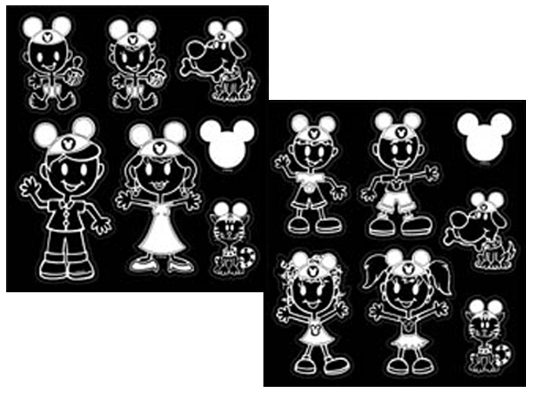 Image of Disney Mickey Mouse Ears Family Vinyl Decal Set