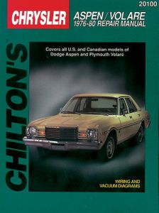Dodge Aspen & Plymouth Volare Chilton Repair Manual (1976-1980)