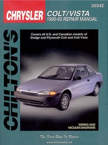 Dodge Colt & Vista Chilton Repair Manual (1990-1993)