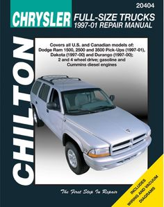 Dodge Ram 1500, 2500, 3500, Dakota & Durango Chilton Repair Manual (1997-2001)