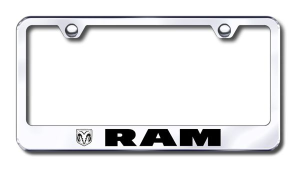 Dodge Ram Laser Etched Stainless Steel License Plate Frame XXXLF-RAM-EC