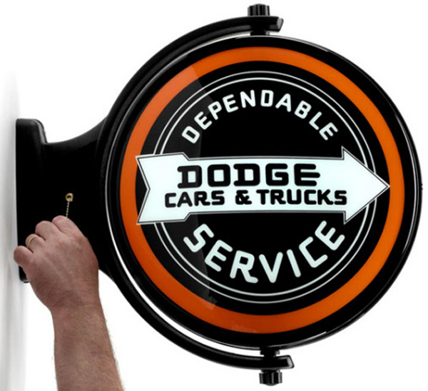 Image of Dodge Service Revolving Wall Light
