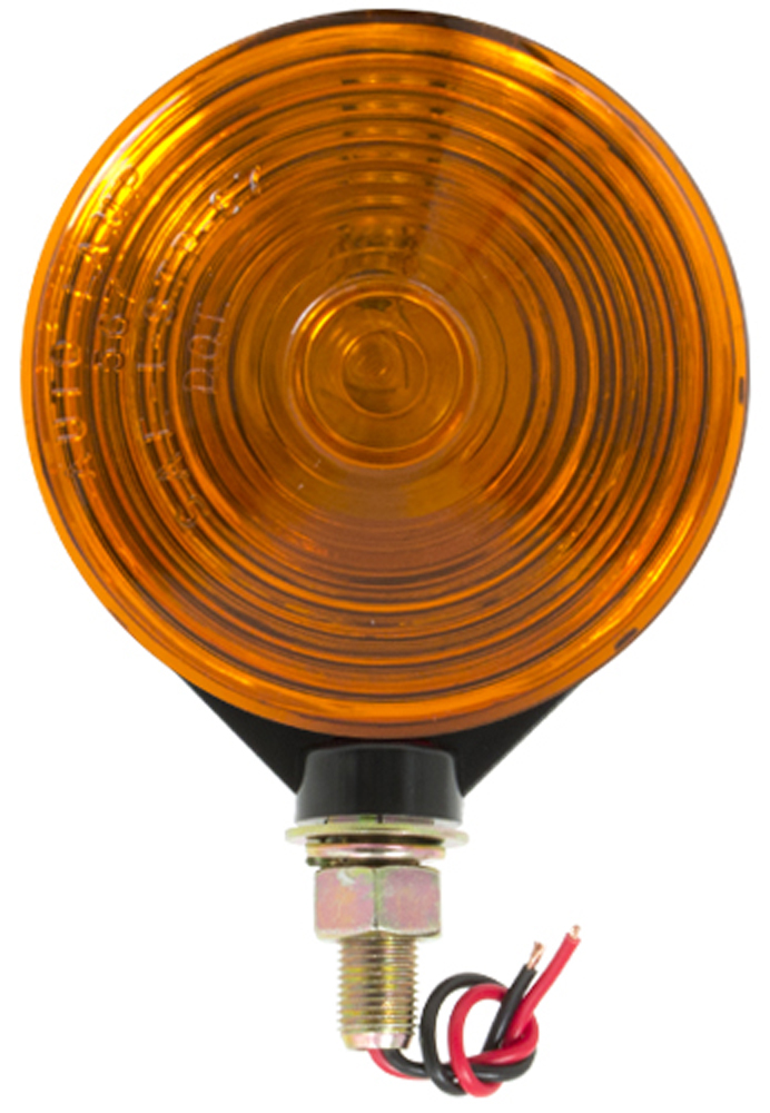 """Image of """"4"""""""" Round Red & Amber Double Face Light"""""""