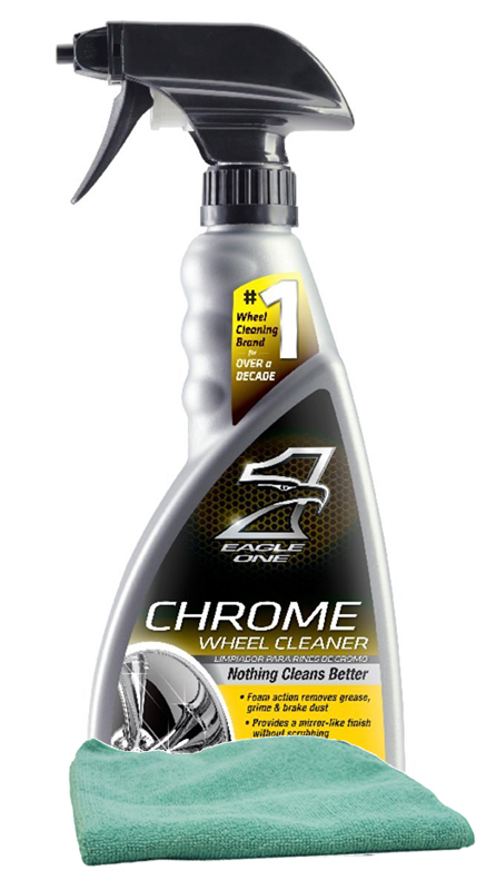 Image of Eagle One Chrome Wheel Cleaner (23 oz.) Microfiber Cloth Kit