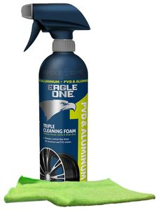 Eagle One PVD & Aluminum Wheel Cleaner (23 oz.), Microfiber Cloth Kit