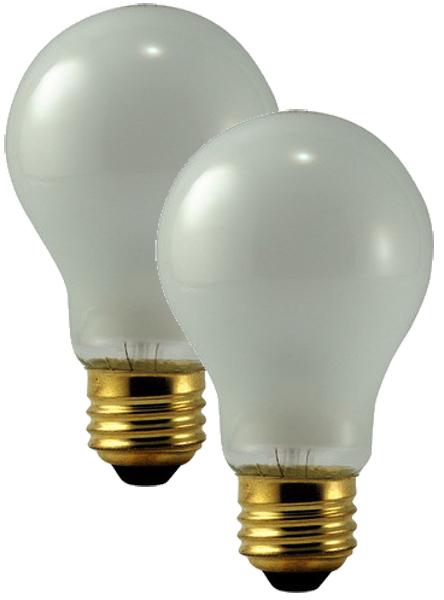Image of Philips 75 Watt Rough Service Frosted Bulbs (Pair)