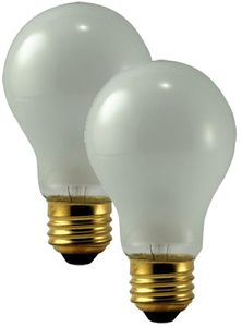 Philips 75 Watt Rough Service Frosted Bulbs (Pair)