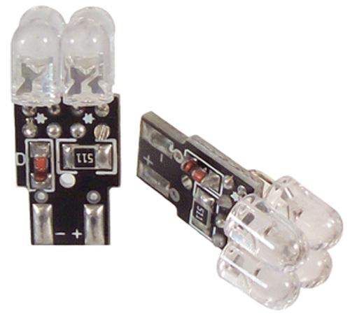 Image of Evo LED T-10 Blue Replacement Mini Bulb (Pair)