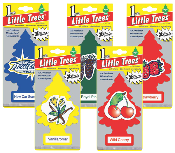 Image of Large Extra-Strength Little Tree Air Fresheners - Black Ice