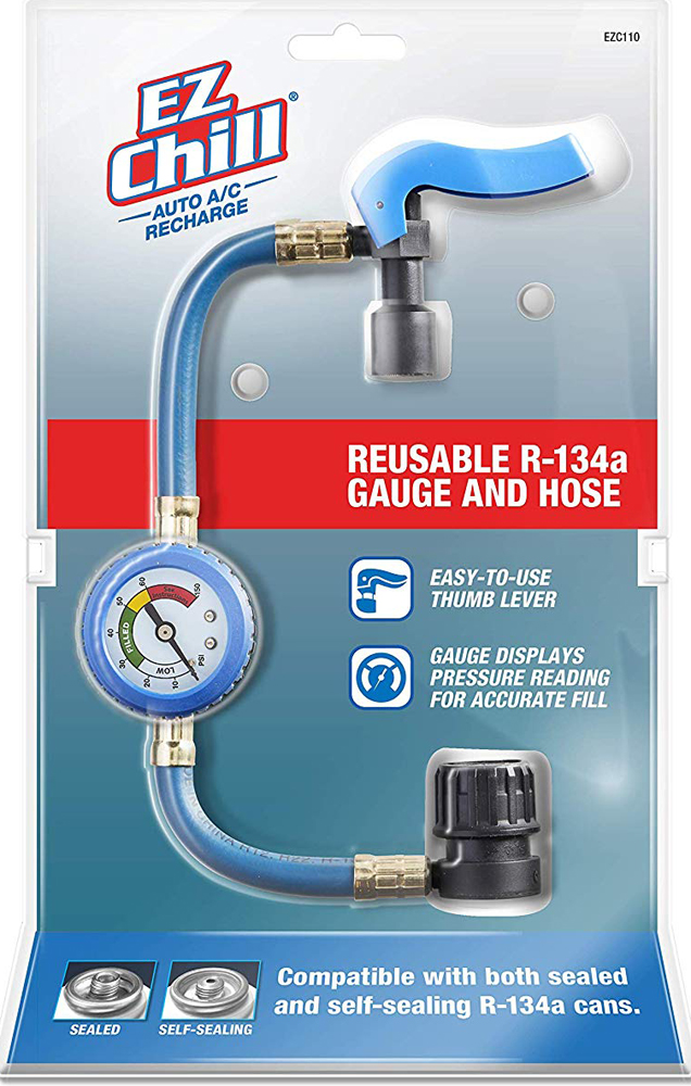 Image of EZ Chill R-134a Reusable Recharge Gauge and Hose Kit