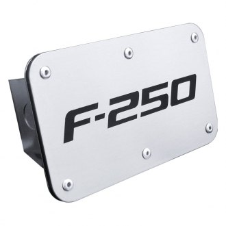 F-250 Laser Etched Brushed Stainless Steel Hitch Plug