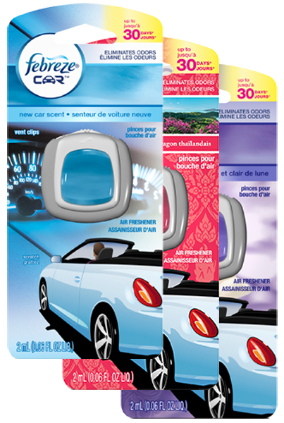 Image of Febreze Vent Clip Air Fresheners - Meadow & Rain