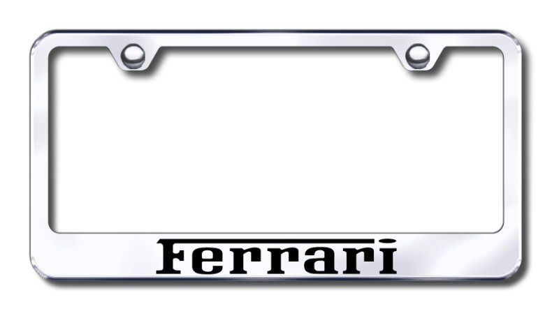 Chrome Stainless Steel Laser Engraved License Plate Frame Cadillac Old Logo