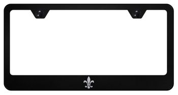 Fleur-De-Lis Laser Etched Stainless Steel License Plate Frame