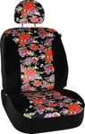 Floral Design Universal Low Back Seat Cover