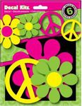 Flower & Peace Self Adhesive Vinyl Decal Set