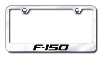 Ford F-150 F150 LASER Style Black Stainless Steel License Plate Frame W// Caps