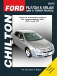 Ford Fusion & Mercury Milan Chilton Repair Manual (2006-2014)