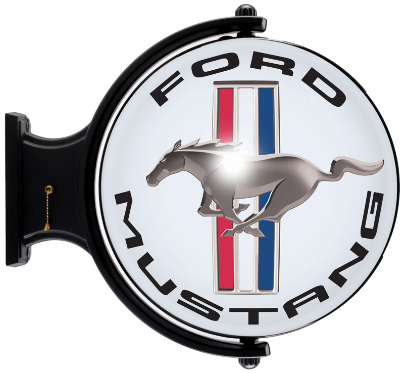 Image of Ford Mustang Red White & Blue Revolving Wall Light