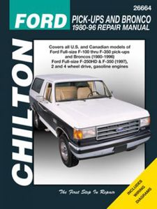 Ford F150, F250, F350 and Bronco Chilton Repair Manual (1980-1996)