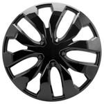 Fracture Glossy Black Wheel Covers (Set of 4)