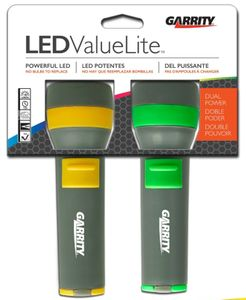 Garrity 2D Value Lite LED Flashlights (Twin Pack)
