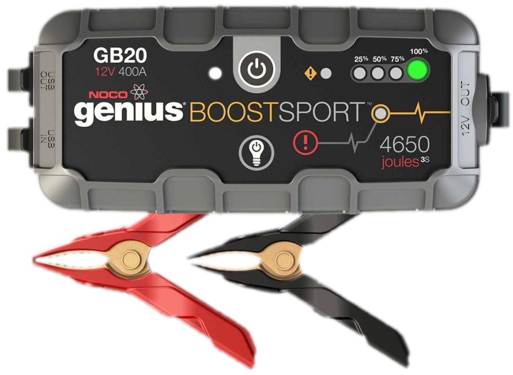 Image of Genius Boost Sport 12V 400 Amp Ultra Safe Lithium Jump Starter & USB Charger