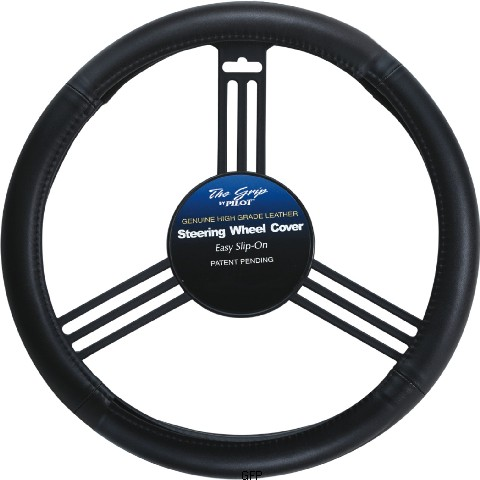 Image of Genuine Leather Steering Wheel Cover