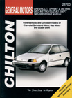Geo Metro/Sprint Suzuki Swift (1985-00) Chilton Manual