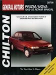Geo Prizm & Nova Chilton Repair Manual (1985-1993)