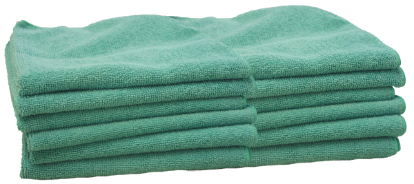 Image of Gliptone Green Microfiber Multipurpose Towels (12 pack)