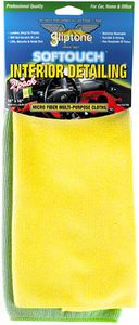 Gliptone Softouch Interior Detailing Microfiber Towels (2-Pack)