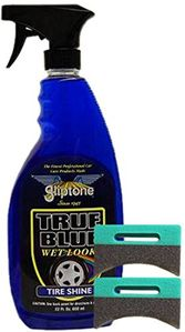 Gliptone True Blue Professional Tire Shine (22 oz) & Applicator Pads Kit