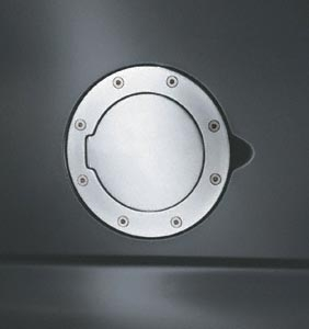 Truck & SUV Billet Polished Aluminum Fuel Door -  GD-101P