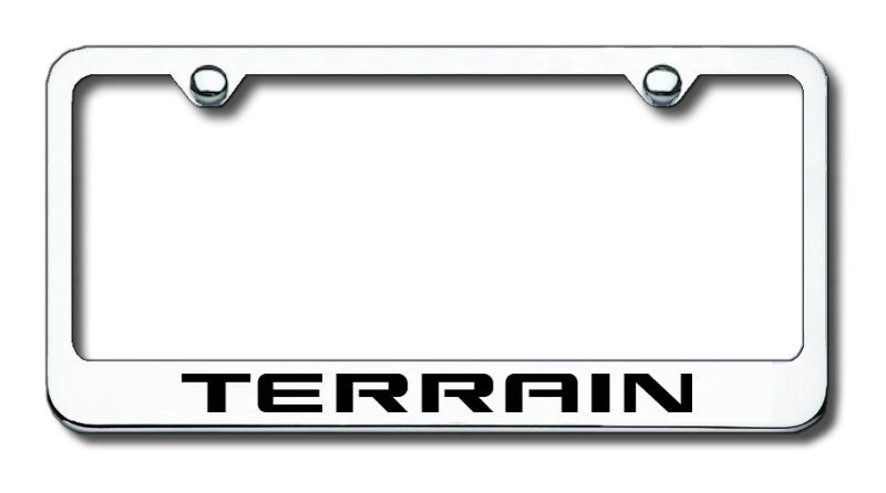 Gmc Terrain Laser Etched Stainless Steel License Plate